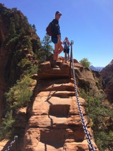 Steps at Angels Landing
