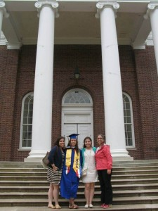 The four Tattersall Blue Hens celebrating another UD graduation!