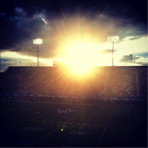 Yet another striking sunset at a UD football game