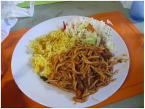 Dominican spaghetti!
