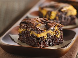 Erin's favorite Pumpkin Swirl Brownies, courtesy of Betty Crocker!