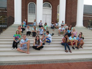 """A freshman year memory: Trying desperately to form """"B3"""" with our seating arrangement as a tribute to our freshman floor."""