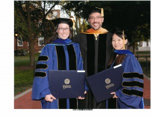 Kate Gurnon, NJW and Dongcui Li at 2014 doctoral graduation