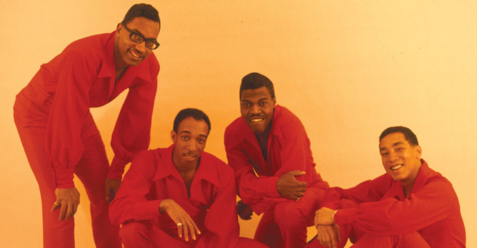 Pete Moore with The Miracles, courtesy of Classic Motown.