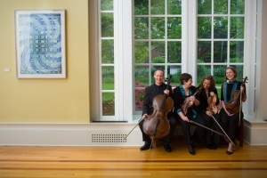 The Serafin String Quartet: Lawrence Stomberg, Kate Ransom, Lisa Vaupel, Esme Creighton-Allen (l to r)