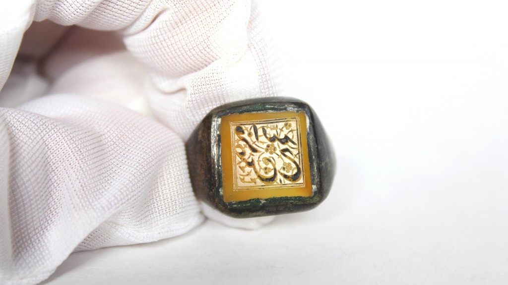 The intricately carved Persian signet ring, post c. 651 CE