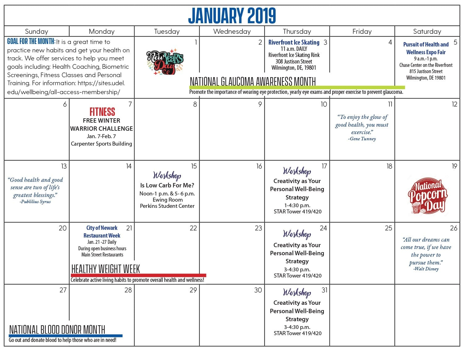 picture of the december calendar of events