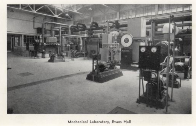 1933 mechanical lab in evans