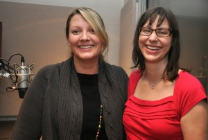 Professors Danna Young, left, and Lindsay Hoffman, Communication