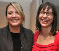 Professors Danna Young and Lindsay Hoffman, Communication