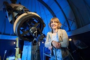 Judi Provencal at Mt. Cuba Observatory