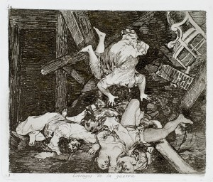 Francisco Goya, Estragos de la Guerra (Ravages of War), from Los Desastres de la Guerra. Image:  Pomona College Museum of Art