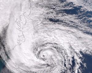 Hurricane Sandy takes aim at the Mid-Atlantic Coast.