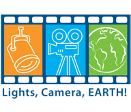 Lights, Camera, Earth! logo