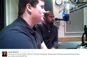 Sarah Masters tweeted this picture of Anthony Rossi (foreground) and John Koshy during their March 20, 2014 interview.