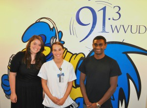 Sarah LaFave, Kathleen Luckner, and Vinu Rajendran (left to right)