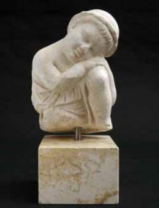 Sleeping putto (fragment), Marble, 2nd cent. CE