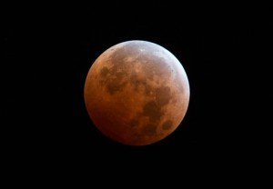 The Super Blood Moon seen on Sept. 27.