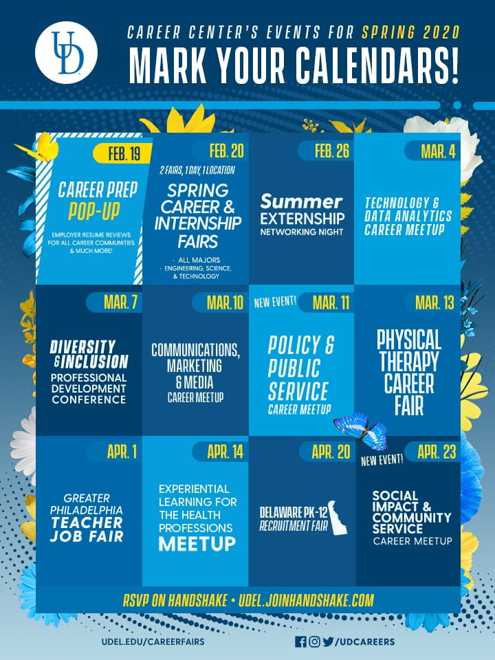 Career Center's Events for Spring 2020