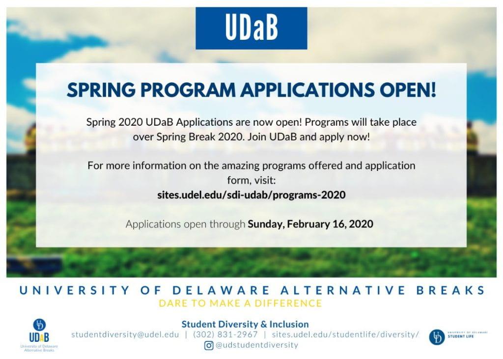 Information about UD Alternative Spring Break