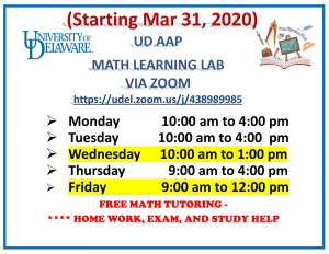 Online Math Lab Hours