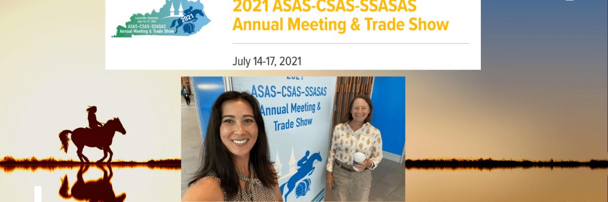 Dr. Amy Biddle and PhD student Alexa Johnson present at 2021 ASAS