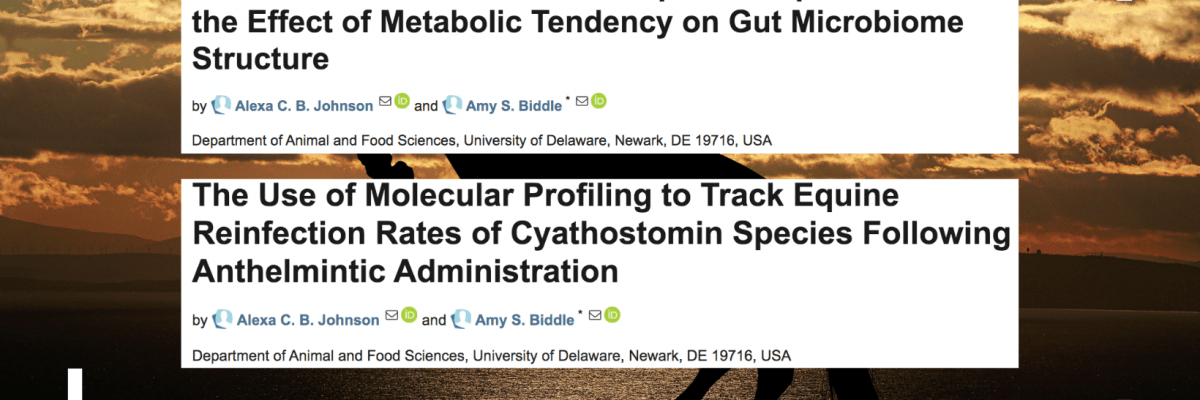 Congratulations to Alexa Johnson on her published papers!