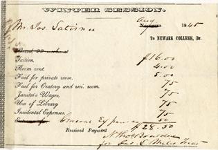Winter Session Invoice - 1845