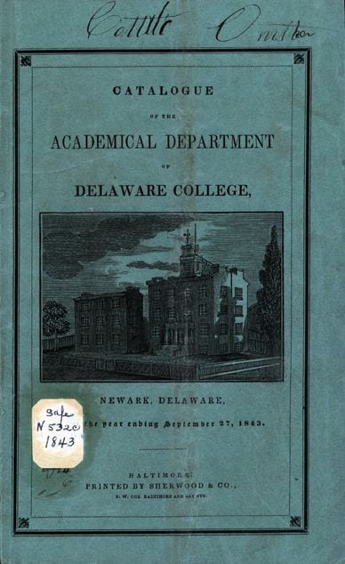 Catalogue of the Academical Department - 1843