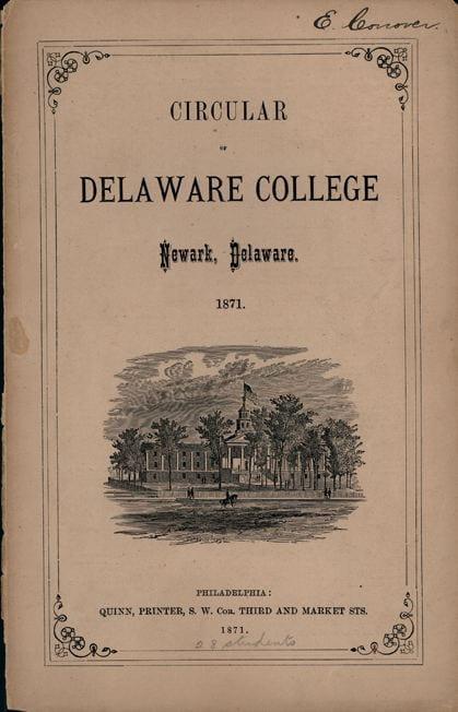 Circular of Delaware College - 1871