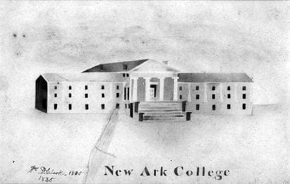 Sketch of New Ark College - 1835