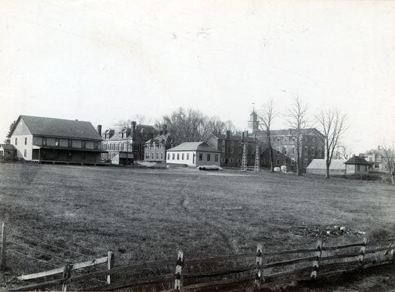 Delaware College campus, taken from present day Frazer Field - Circa 1895