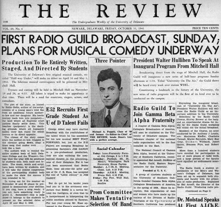 Front page of The Review from October 1, 1941.
