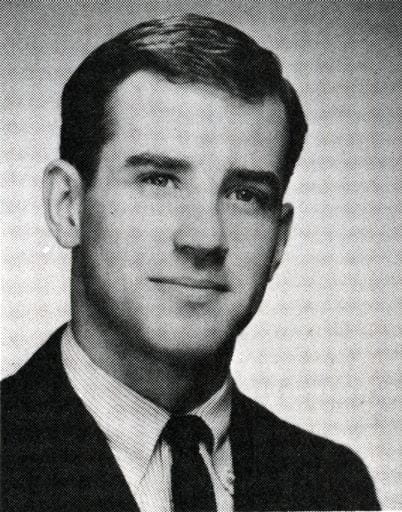 Photo of Joseph R. Biden as a student from the 1965 yearbook.