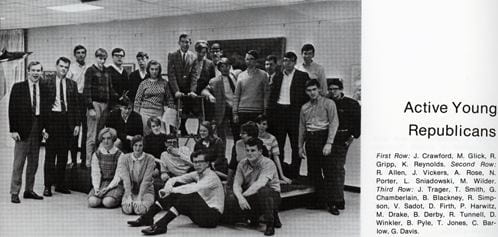 Active Young Republicans from the 1968 yearbook.
