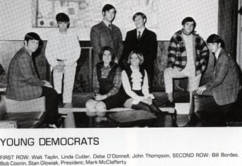 Young Democrats members from the 1970 yearbook.