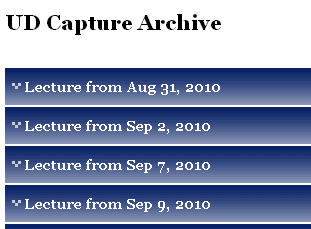 UD Capture Archive sample