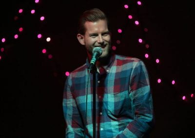 A picture of Patrick Holbert, a comedian at Comedy Night
