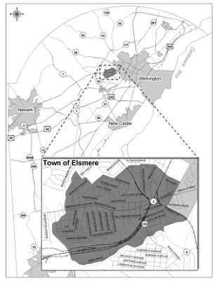 Map of Elsmere, Delaware