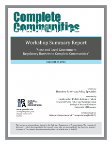 Workshop Summary Report cover