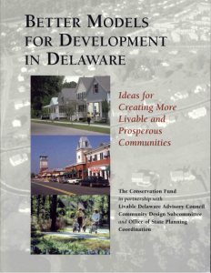 The book cover for Better Models for Development in Delaware by Ed McMahon