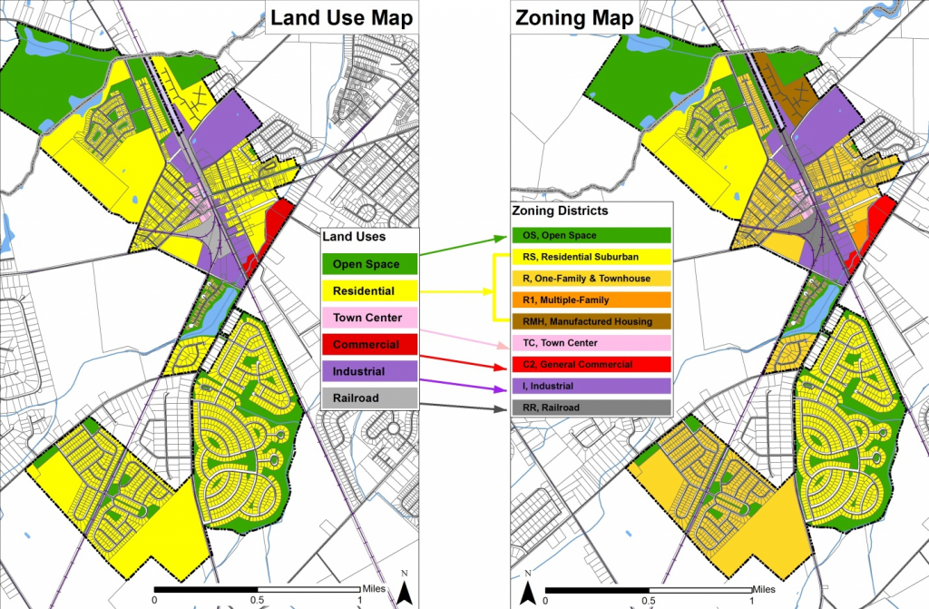 Comparative Land Use and Zoning Maps