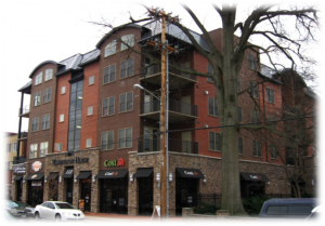 An example of mixed use development with commercial and residential uses