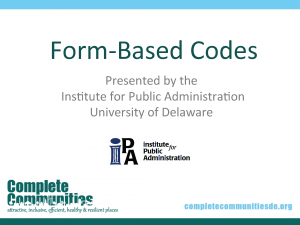 Title slide to Form-Based Codes presentation