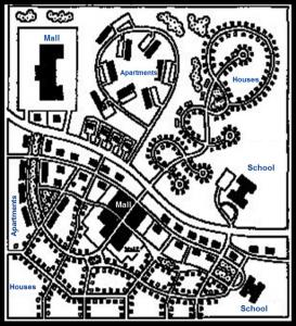 Town plan designed to reduce car usage