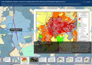 Screen capture of Town of Middletown GIS story map
