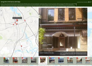 Screen capture of City of Dover GIS story map