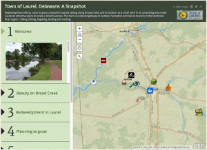 GIS Story Map of Laurel, Delaware