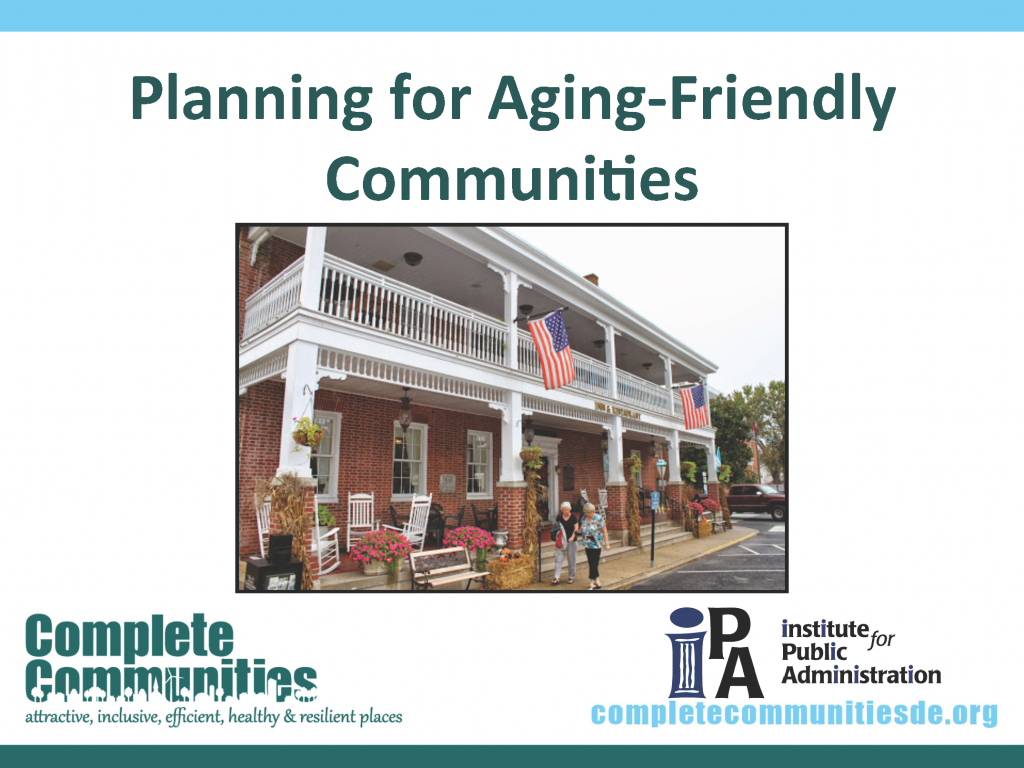 Planning for Aging-Friendly Communities