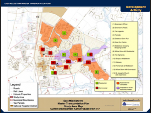 Map of Anticipated Development Activity for East Middletown